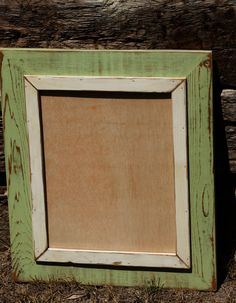 11x14 Beach Green Frame by CaliforniaRustic on Etsy, $45.00