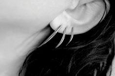 Серьги - ножи из серебра