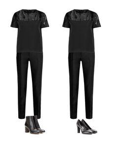 как составить модный капсульный гардероб, модный базовый гардероб женщины, зимний капсульный гардероб, базовые брюки, базовая обувь