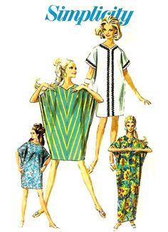 CAFTAN KITE DRESS Vintage Sewing Pattern   Easy by KeepsakesStudio