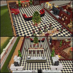 My Sims Free Play - Fancy House: open-plan lounge area, dining and kitchen area