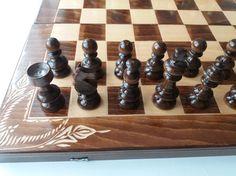 Neue braune schöne 20 x 20 Zoll Buche Holz Blume geschnitzt Handarbeit Hasel Holz Schachfigur, Holz Schachspiel, Backgammon, Schach-Board Box, Dame