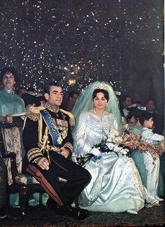 Royal Weddings,ROYAL İRAN,Shah Mohammad Reza Pahlavi's wedding to Queen FARAH PAHLAVI