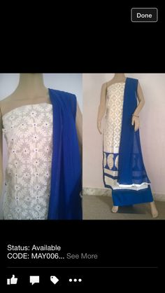 Self work and embroidery with pure chiffon dupatta