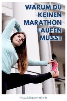 Marathontraining ist öde. Aber jeder Läufer muss doch mal Marathon gelaufen sein? Nein, du musst keinen Marathon laufen. Marathon Training, Marathon Laufen, Bodybuilding, Best Self, Tricks, Fitness Motivation, Wellness, Yoga, Workout