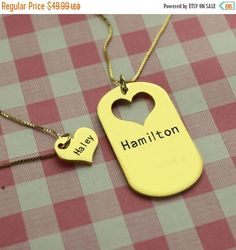 This BFF necklace and dog tag.