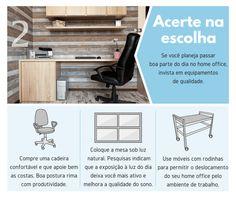 Infográfico traz dicas práticas para montar um home office.