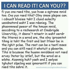 Can You I Can Read It