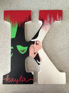 Painted letter! #wooden #letter #painted #sorority #wicked #big #little #diy #craft Painted Sorority Letters, Painted Letters, Wooden Letters, Alpha Chi, Kappa Delta, Dorm Paintings, Letter Door Hangers, Big Little Gifts, Big Letters