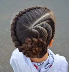 New braids for kids pony tail girl hairstyles ideas Pretty Hairstyles For School, Kids Braided Hairstyles, Little Girl Hairstyles, Trendy Hairstyles, Teenage Hairstyles, School Hairstyles, Beautiful Hairstyles, Childrens Hairstyles, Braid Hair
