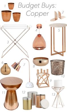 Inexpensive Copper Finds