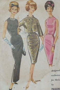 Vintage McCall's 6031 Pauline Trigere Dress and Jacket Sewing Pattern
