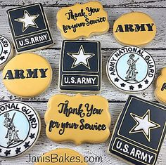 janisbakes | Patriotic/Military Army Decorated Cookies
