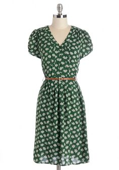 Take to the Wind Dress in Greenery. #modcloth
