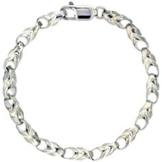 """Sterling Silver Bullet Chain Bracelet 8 in. (Also Available in 7""""), 1/4 in. (6mm) wide Sabrina Silver. $109.75"""
