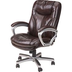 Lane Puresoft Executive Office Chair Chestnut