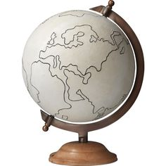Jamie Young Co. Decorative Canvas Globe by Jamie Young ($388) ❤ liked on Polyvore featuring home, home decor, fillers, decor, accessories, globes, backgrounds, jamie young, canvas home decor and inspirational home decor