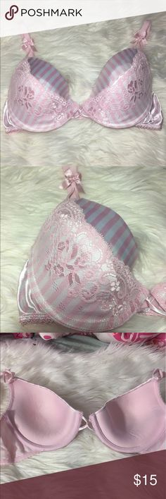 Beautiful Lace Push Up Bra 36C Great condition  -I do not accept offers in the comments so please make all reasonable offers using the offer button only. :) I WILL ALWAYS MAKE A COUNTEROFFER UNTIL I REACH MY LOWEST PRICE NO DECLINES SOME ITEMS PRICES ARE FIRM  -NO TRADES  -NO HOLDS 🚫 -I ship every Monday, Wednesday and Friday   💕Instagram- allisonsbeautyboutique 💕 Your purchase is going to help me graduate community college with as little debt as possible. Thank you! smart and sexy…