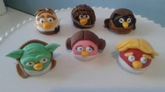 Star Wars Angry Birds fondant cake toppers