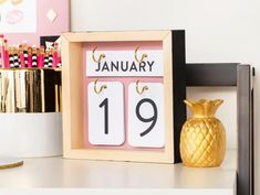 Find and shop thousands of creative projects, party planning ideas, classroom inspiration and DIY wedding projects. Diy Crafts Hacks, Easy Diy Crafts, Diy Home Crafts, Diy Arts And Crafts, Crafts For Teens, Paper Crafts, Diy Calendar, Desk Calendars, Diy Home Decor Easy