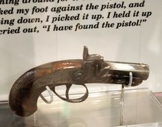 The actual .44 cal. Derringer pistol used to kill President Lincoln.