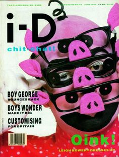"""cMag012 - i-D Magazine cover """"Leigh Bowery"""" by Johnny Rozsa / June 1987"""
