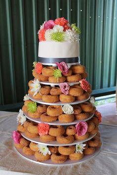 A donut wedding cake. Best idea ever!