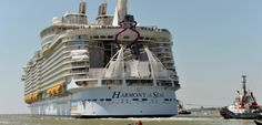Mer : Le plus gros paquebot du Monde a pris la mer, il sera à Cherbourg le 27 mai 27 Mai, Harmony Of The Seas, Saint Nazaire, Cherbourg, The Sea