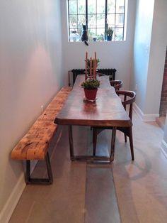 Tapered Steel Table Legs Metal Bench By MooseheadMetals