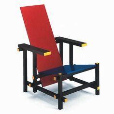 Silla en rojo y azul de Gerrit Rietveld