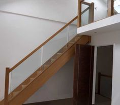 Oak Staircase with Glass Balustrade  Maybe??? http://www.stairplan.com/vision-glass-balustrade.html