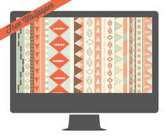 Free Tribal Print Desktop Wallpaper! HandmadeintheHeartland.com