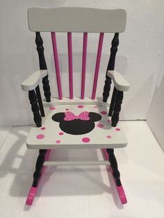 Minnie Mouse Rocking Chair by JHatalaArt on Etsy