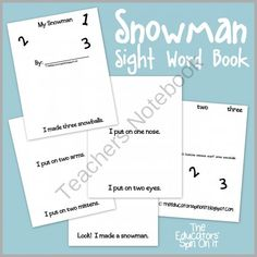 Snowman Counting Book from The Educators Spin On It on TeachersNotebook.com -  (5 pages)