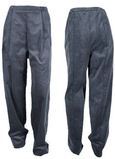 the wide cut, high waisted CASE pants out of 100% organic cotton dark grey corduroy by format available at WESEN