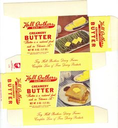 Butter boxes | Hall Brothers Butter Boxes and the box states further that this was ...