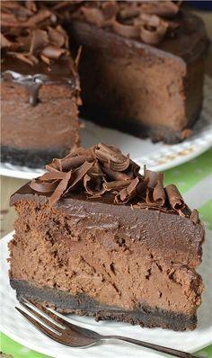 Σπιτικό cheese cake σοκολάτας χωρίς ψήσιμο