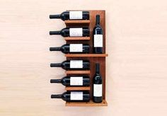 Wine Rack; Float Wall Shelf by Modern Cellar