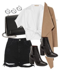 """""""Untitled #3990"""" by amyn99 ❤ liked on Polyvore featuring Calvin Klein, Yves Saint Laurent, Topshop, Michael Kors and Harris Wharf London"""