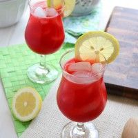 A quick and refreshing summer drink perfect for the whole family, raspberry lemonade.
