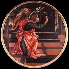 Gabriel from the Annunciation by Filippino Lippi, Wood