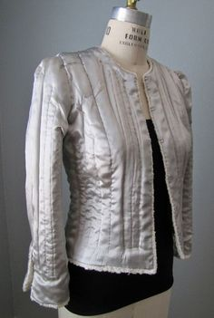 Sewing a Chanel Inspired Jacket,How to recognize a real Silk? Chanel Jacket Trims, Chanel Style Jacket, Boucle Jacket, Tweed Jacket, Blazer Jacket, Coco Chanel, Channel Jacket, Couture Jackets, Chanel Couture