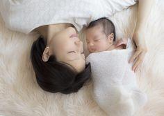 ニューボーンフォト(新生児写真)&赤ちゃん写真 ママとのお写真も大切に♡