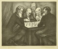 Chess Players, c. 1935  Saul Jacob Rabino