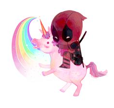 I hope you like the movie. : ) But there are.... some things in it....  kinda like there is this thing about Deadpool and the unicorn in the movie and during the credits.