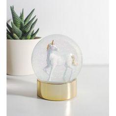 Boule à neige licorn