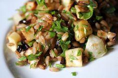 wheat berry salad plate