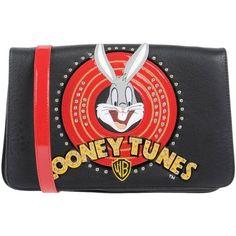 Looney Tunes For Braccialini Handbag (465 RON) ❤ liked on Polyvore featuring bags, handbags, black, rhinestone studded purse, handbag purse, comic book, comic bag and rhinestone handbags purses