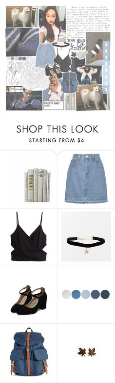 """i'm a mess, but i'm the mess that you wanted —"" by tightrope-of-weird ❤ liked on Polyvore featuring GET LOST, Topshop, NYX and Herschel Supply Co."
