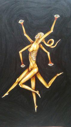 #art #myart #monster #crazy #observe #eyes #bones #black #china #colors #hotcolors